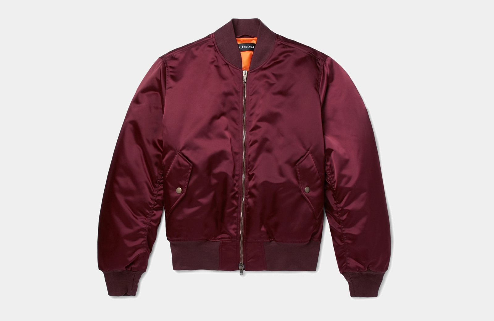 best burgundy bomber jacket men Balenciaga luxury style - Luxe Digital