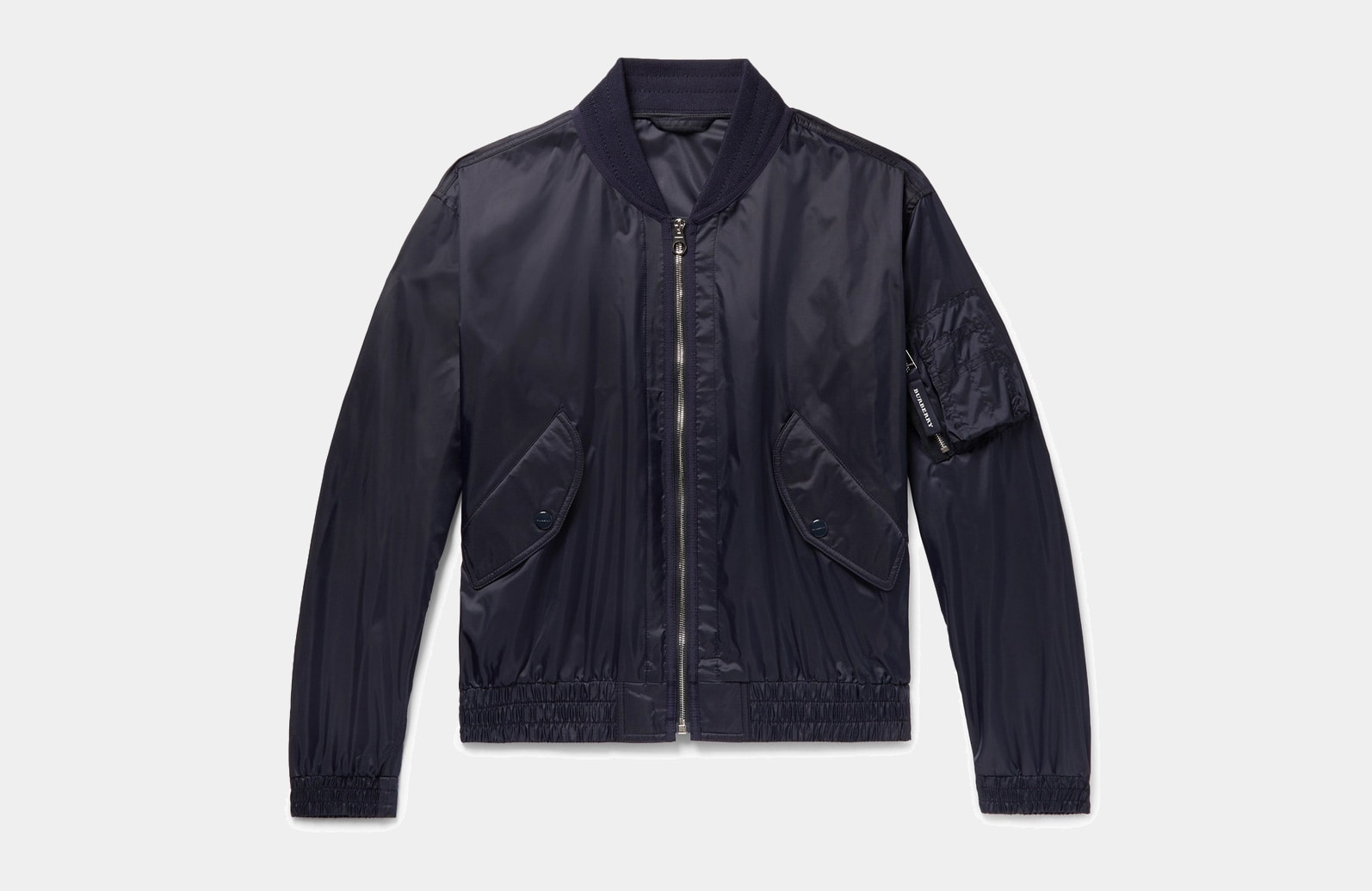 best blue bomber jacket men Burberry luxury style - Luxe Digital