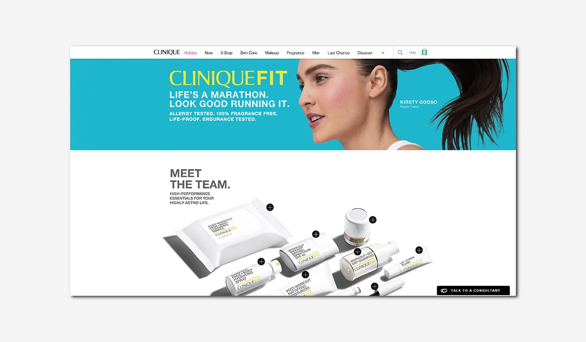 wellness luxury beauty clinique fit luxe digital