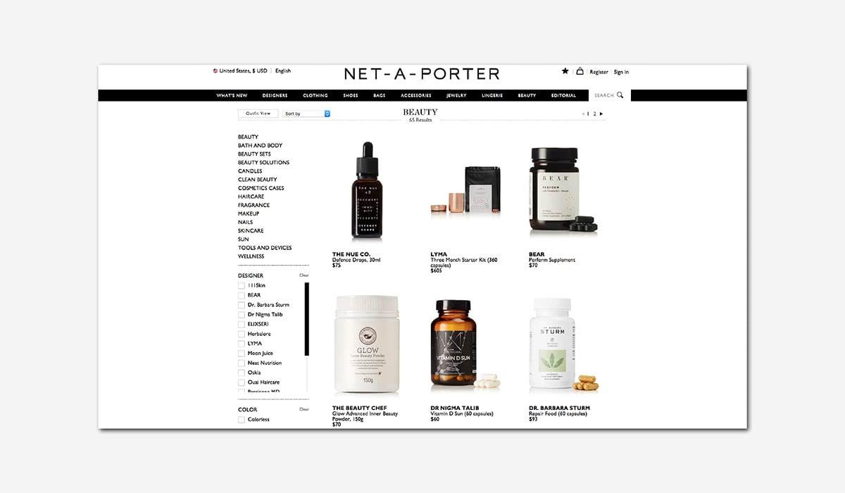 wellness luxury beauty net-a-porter luxe digital