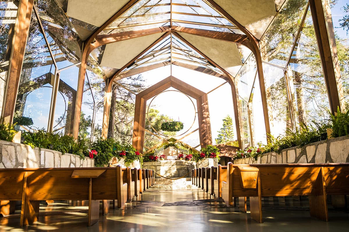 Best Wedding venues Wayfarer's Chapel, Los Angeles - Luxe Digital