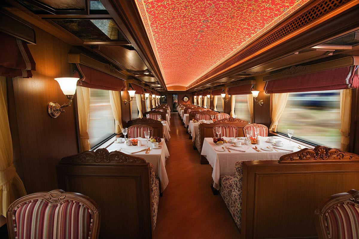 Maharajas Express luxury train restaurant India tour - Luxe Digital