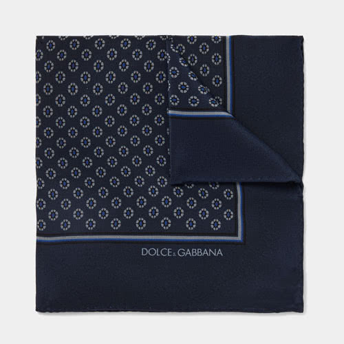 men dress code style Dolce Gabbana pocket square - Luxe Digital