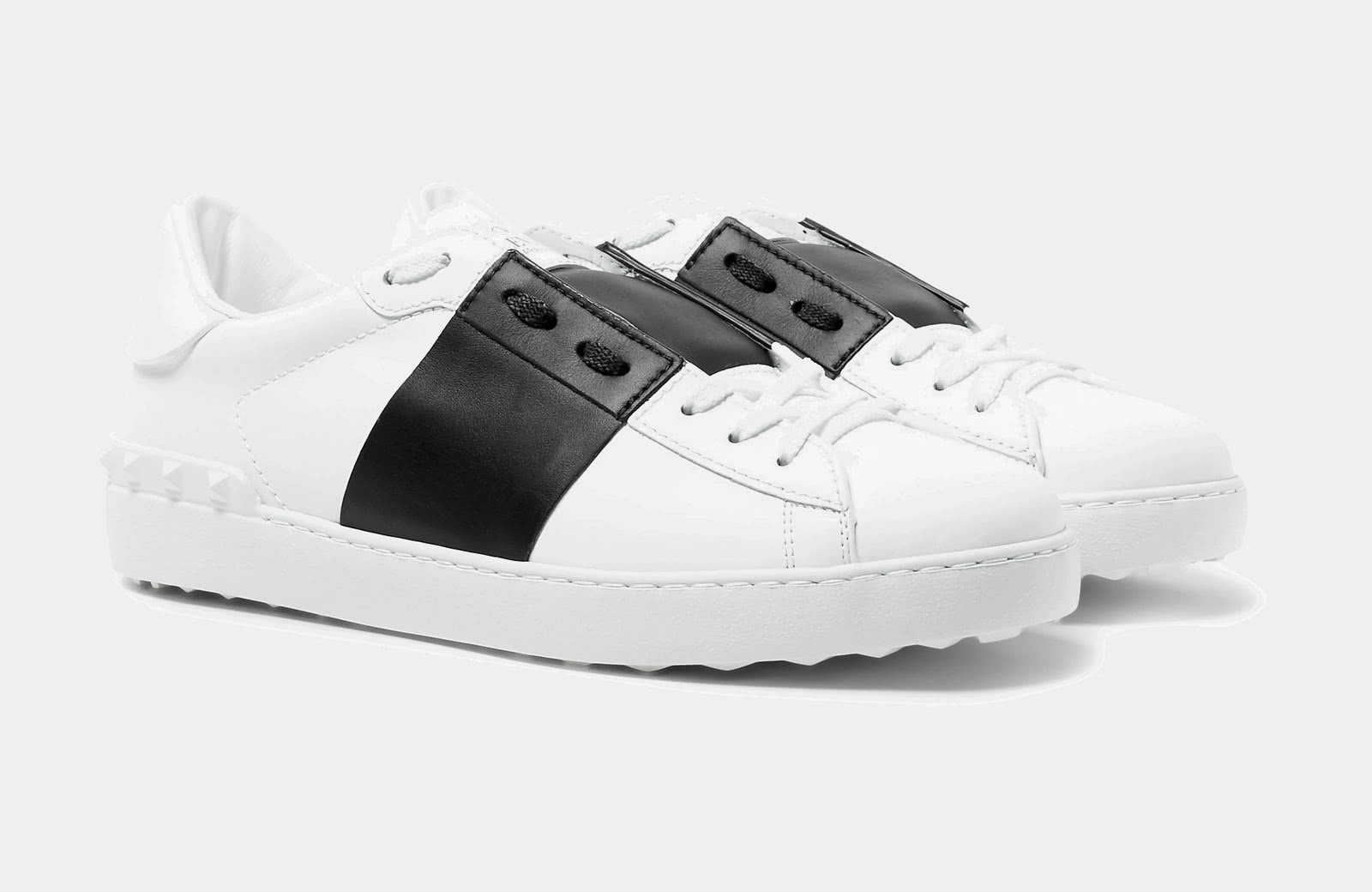 best black and white sneaker men Valentino Garavani luxury style - Luxe Digital