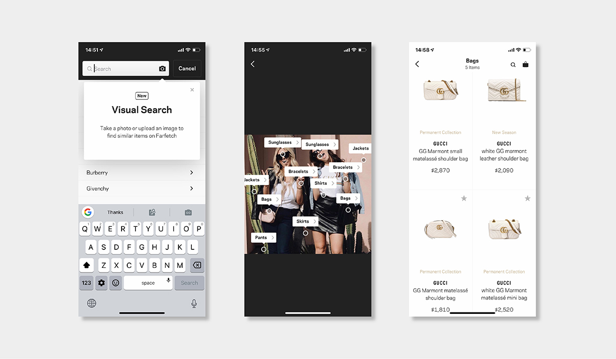 AI personalisation luxury ecommerce farfetch visual search luxe digital