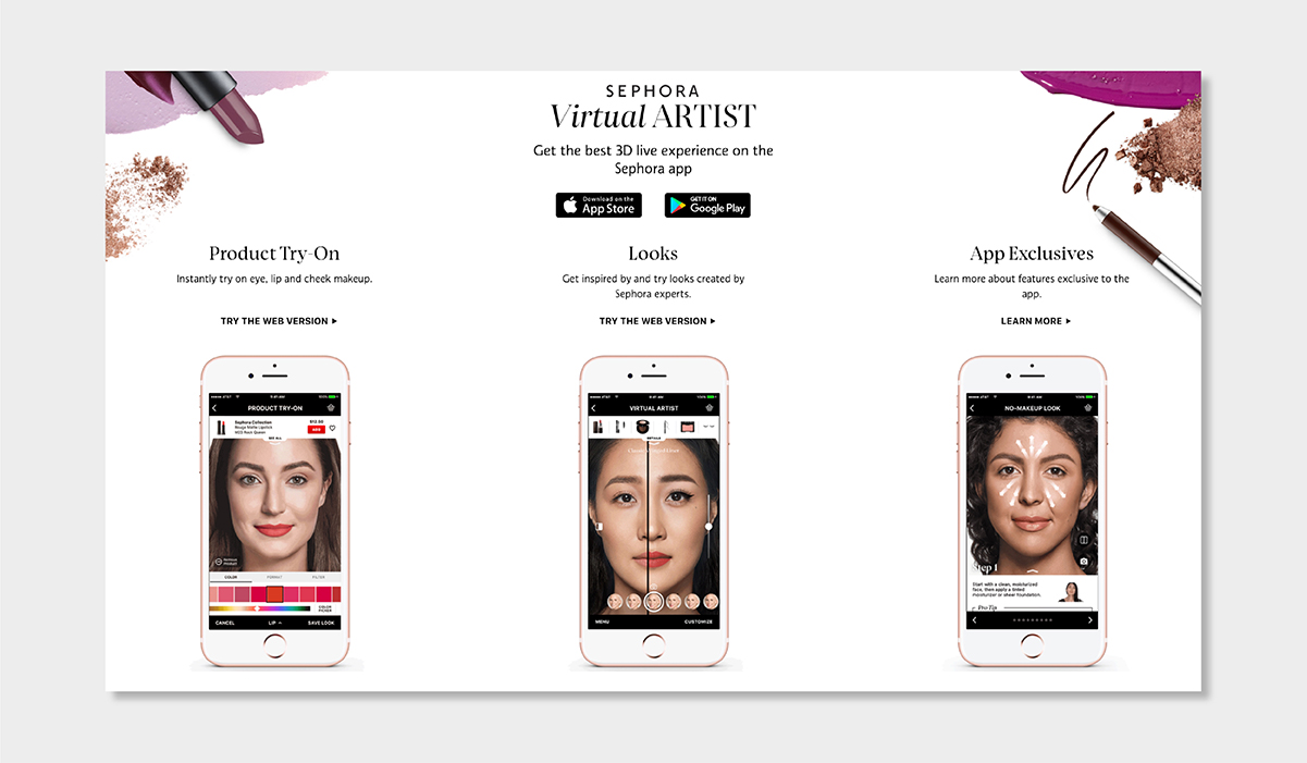 AI personalisation luxury ecommerce sephora virtual artist luxe digital