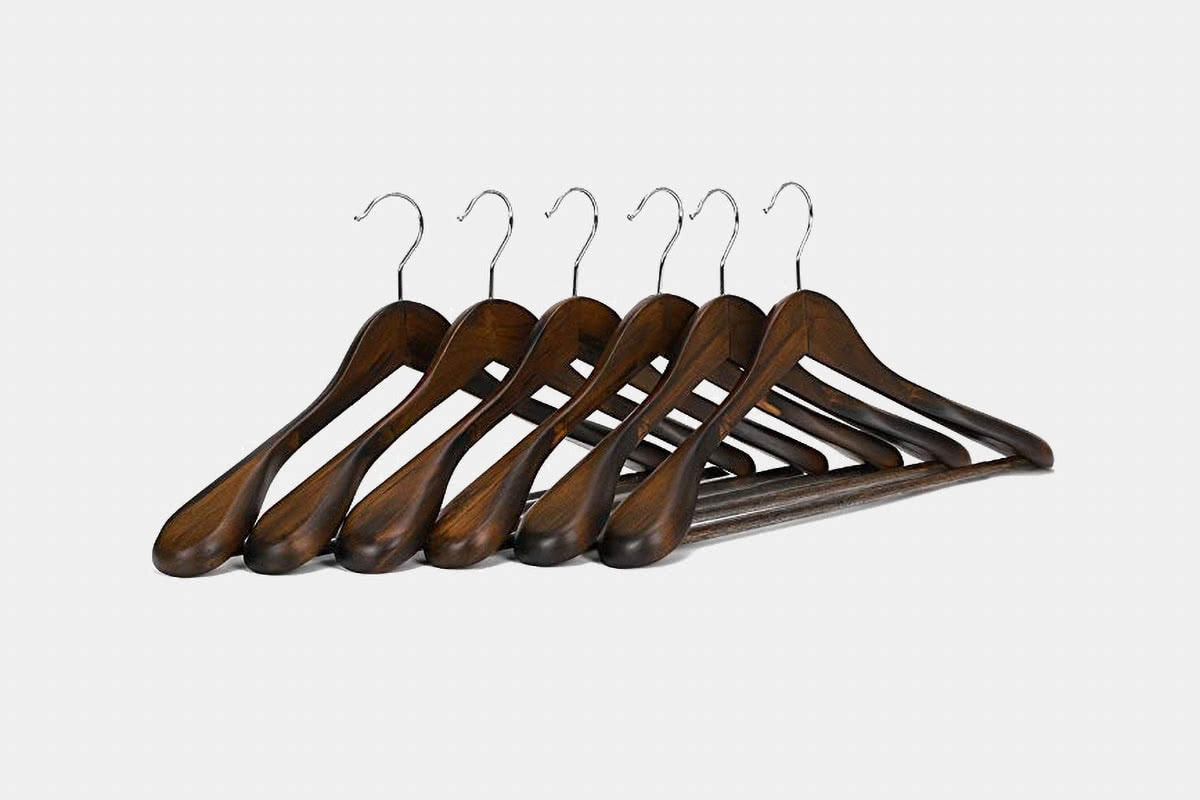 business professional suits extra-wide shoulder hangers - Luxe Digital