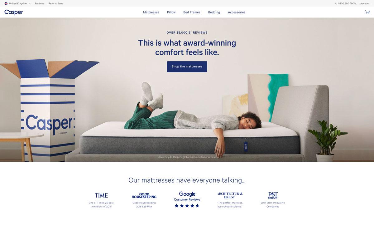 best direct to customer brands Casper - Luxe Digital