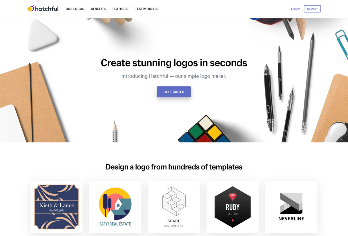 best Shopify DTC free logo design with Hatchful - Luxe Digital
