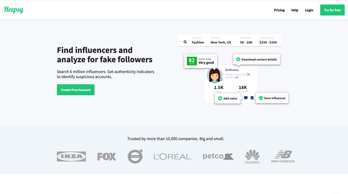 Heepsy influencer marketing campaign tool for D2C - Luxe Digital
