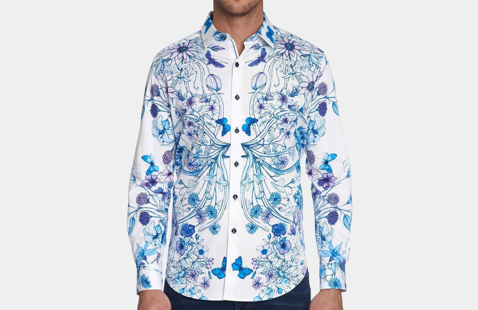 Robert Graham best men summer designer shirt floral pattern - Luxe Digital