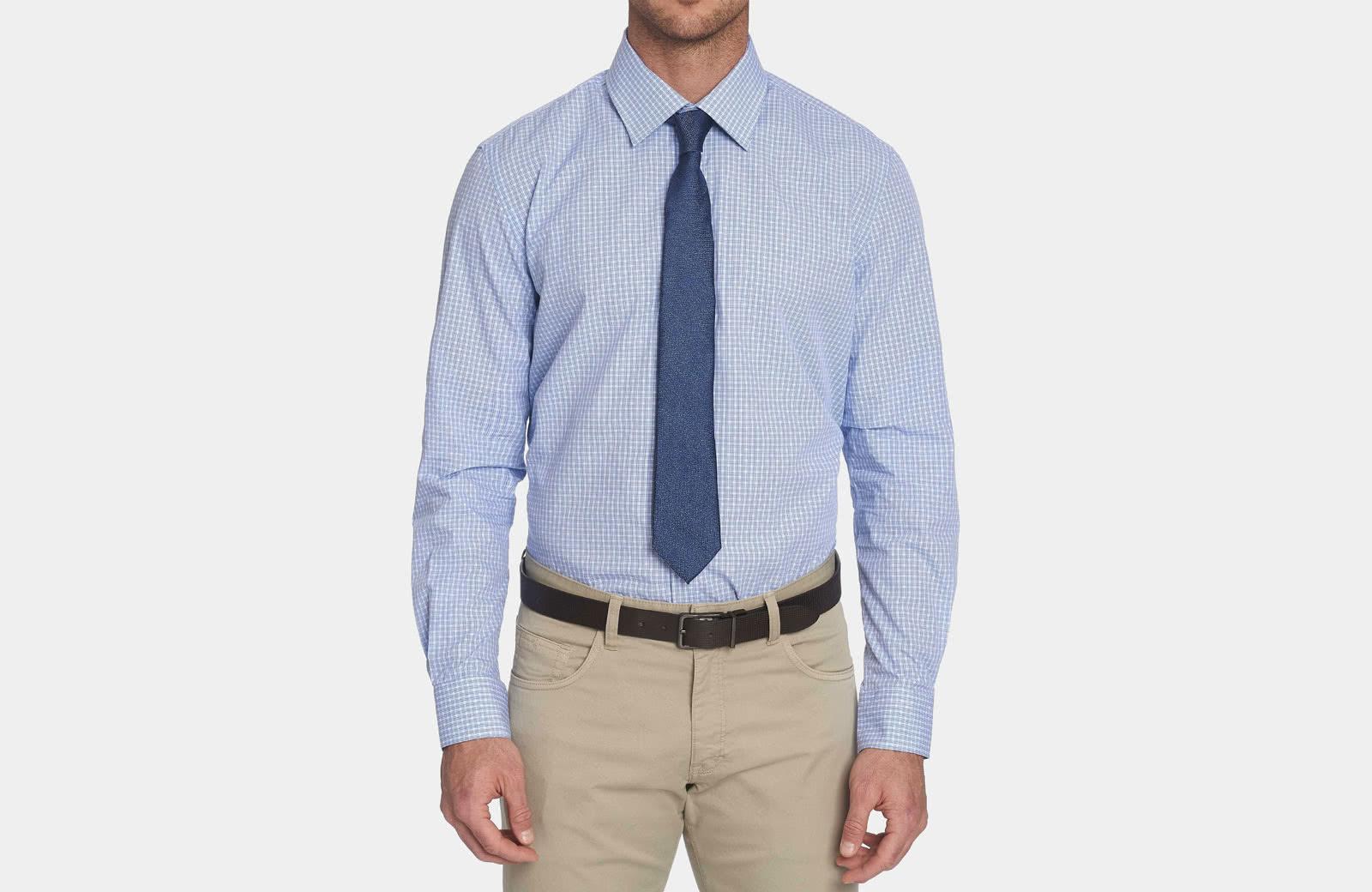 Robert Graham best men summer dress shirt blue check - Luxe Digital