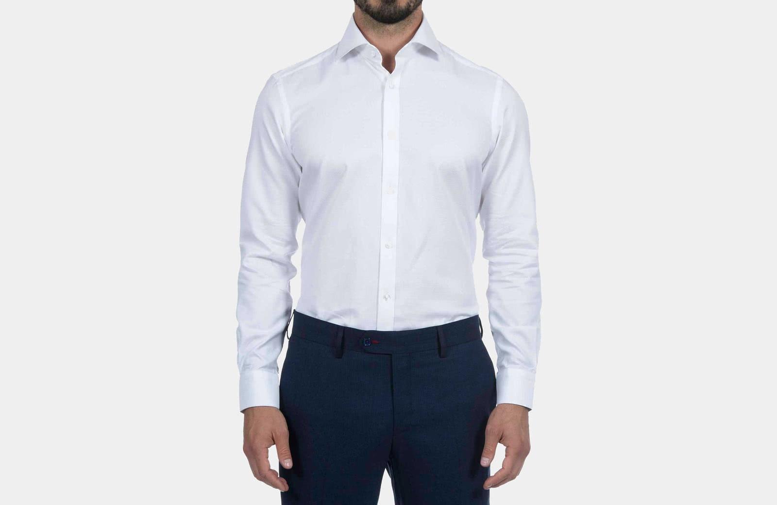 Robert Graham best men summer dress shirt white - Luxe Digital
