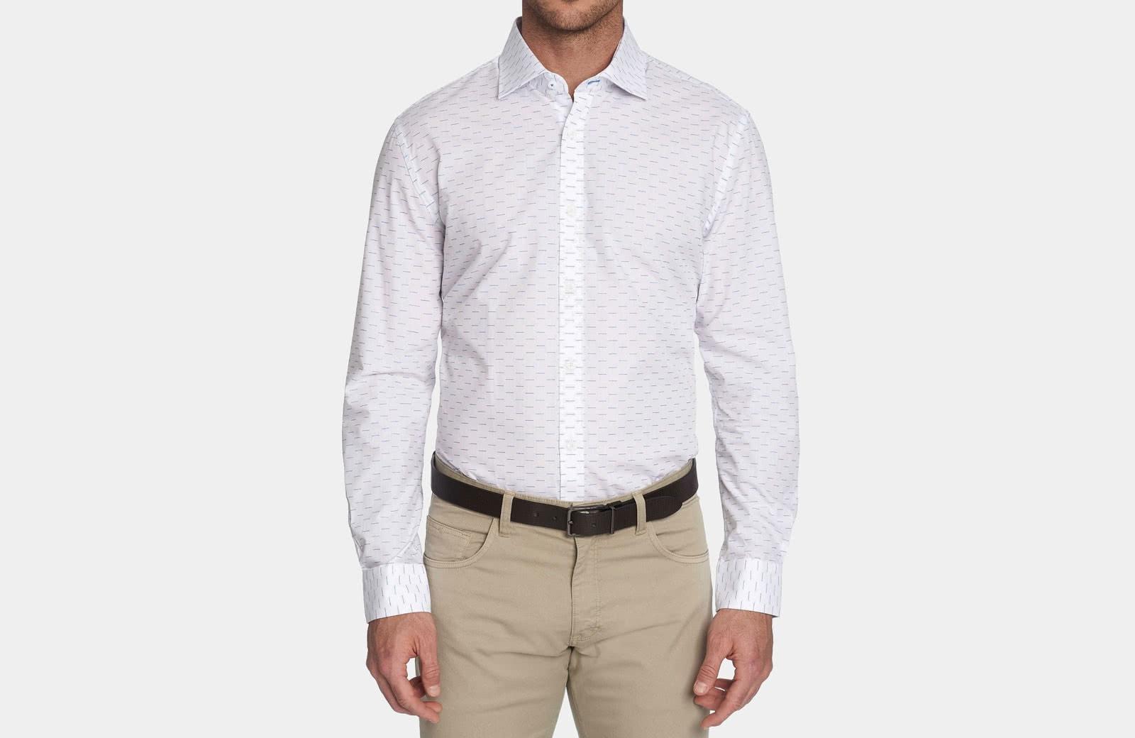 Robert Graham best men summer dress shirt white pattern - Luxe Digital
