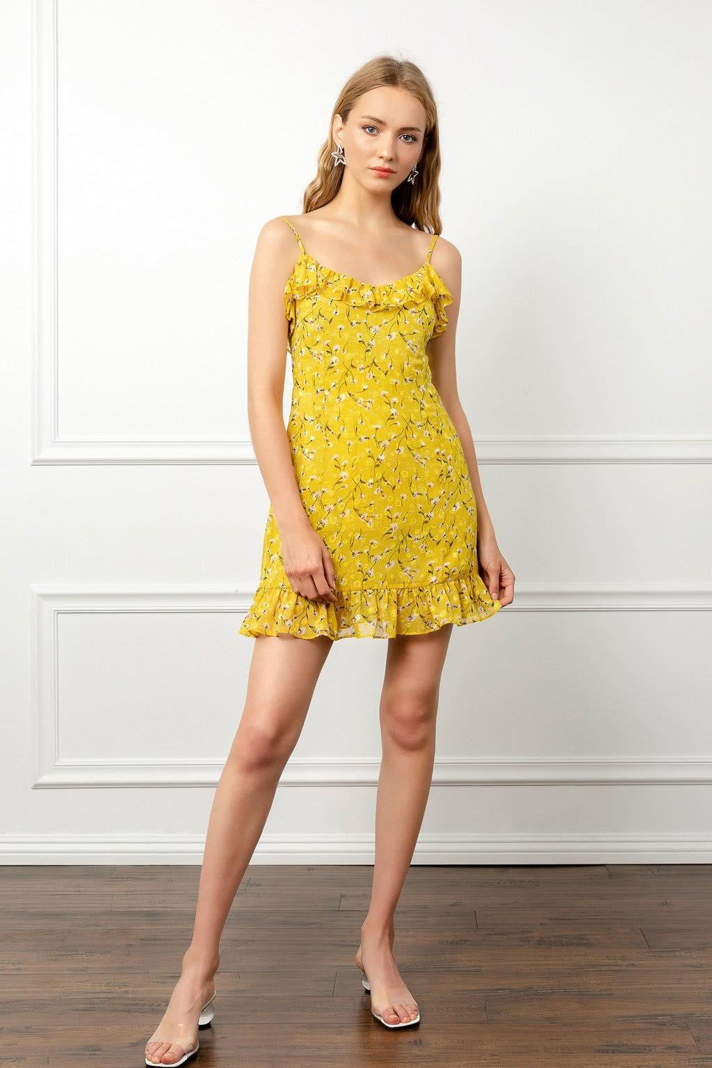 J.ING yellow dress summer 2019 women - Luxe Digital