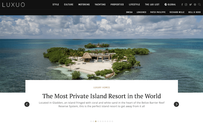 best luxury magazine Luxuo - Luxe Digital