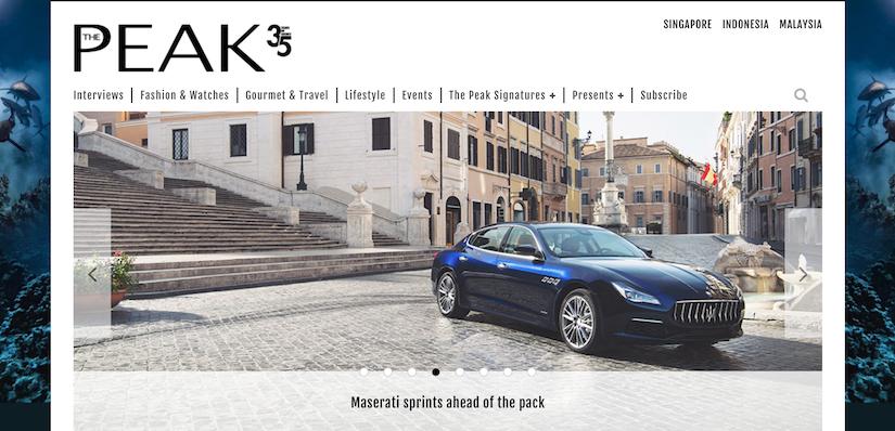 best luxury magazine The Peak - Luxe Digital