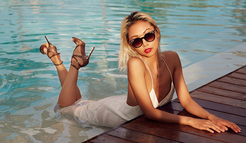 luxe digital luxury influencer marketing jimmy choo candice lake campaign