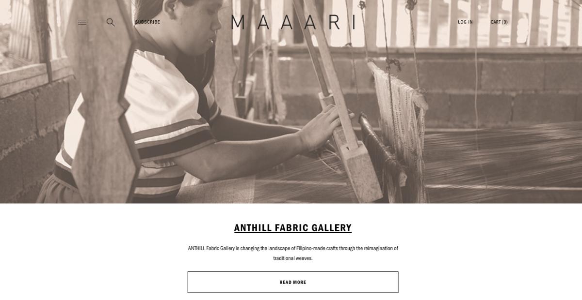 luxe digital philantropic luxury retail ecommerce maaari