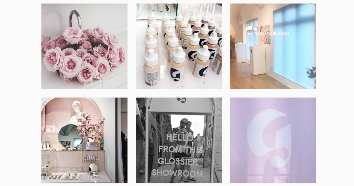 Glossier Instagrammable store - Luxe Digital Future of online luxury retail