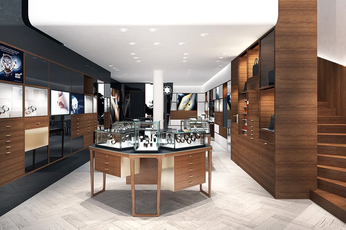Luxe Digital luxury big data Montblanc Retailnext store
