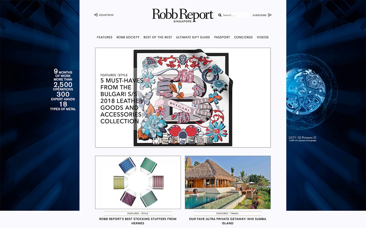 Luxe Digital top luxury magazines to target affluent consumers in Asia - Robb Report Singapore