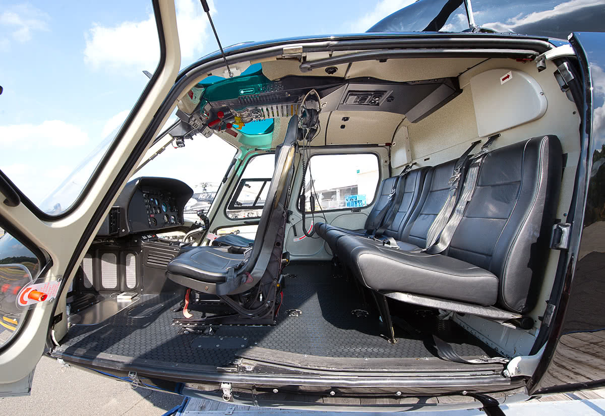 Luxe Digital travel ultra-luxury Twinstar Airbus AS355N interior Wings Air helicopter