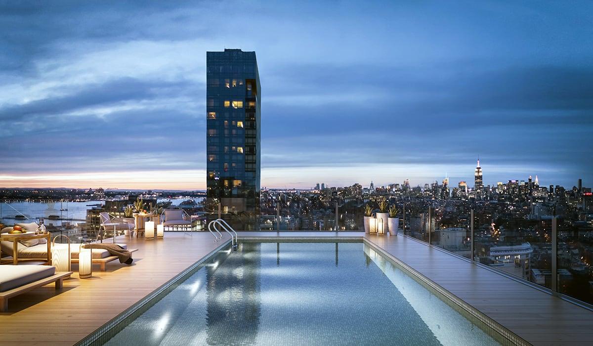 Luxe Digital luxury condo New York 565 Broome SoHo penthouse swimming pool