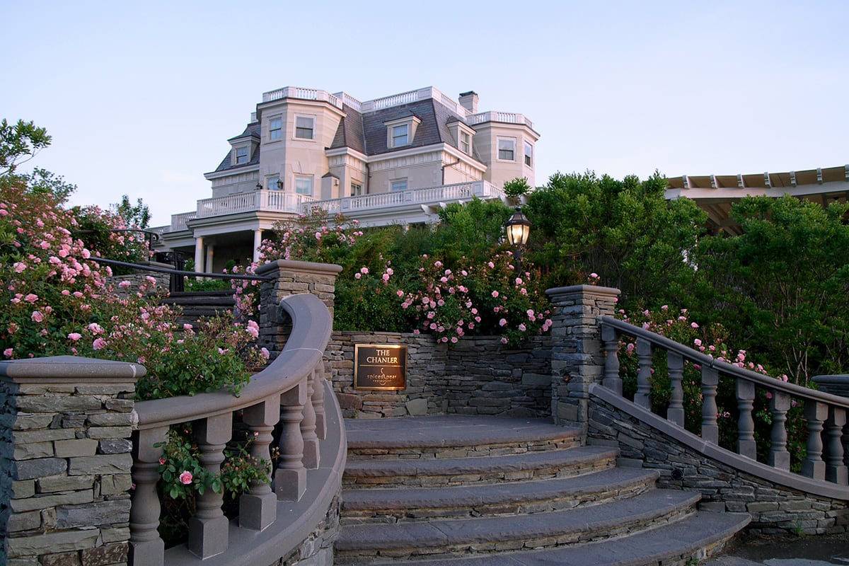 Luxe Digital luxury travel best hotel New England Chanler Newport Rhode Island