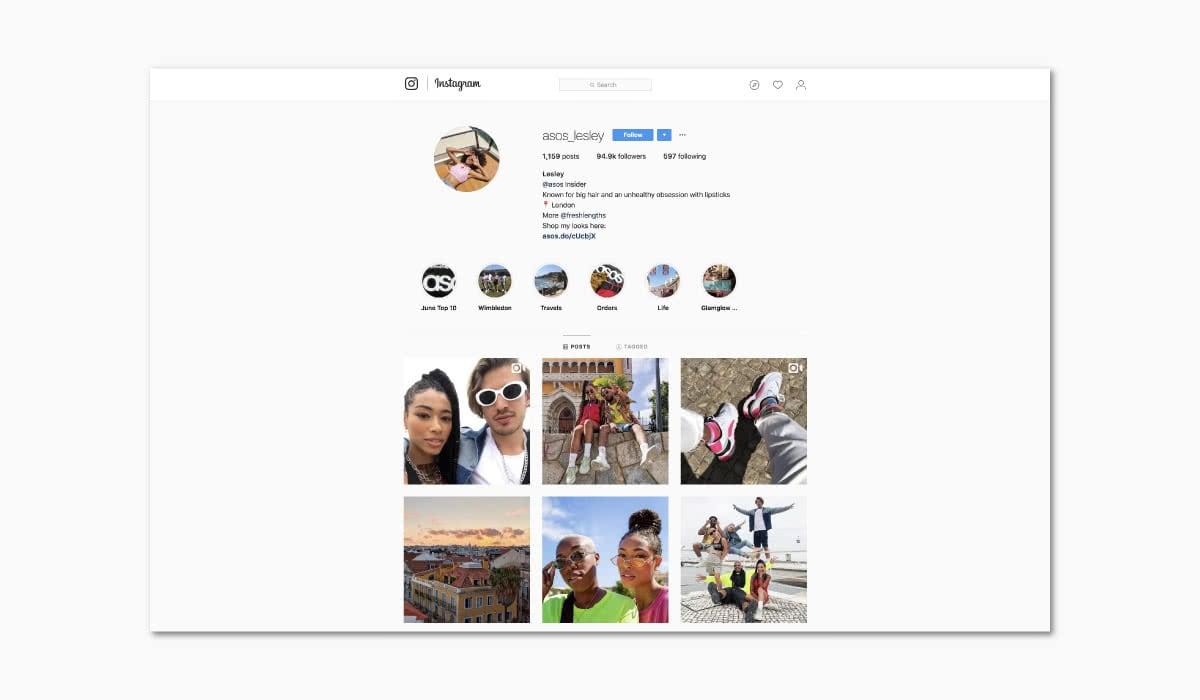 Luxe Digital online storytelling luxury brands asos instagram