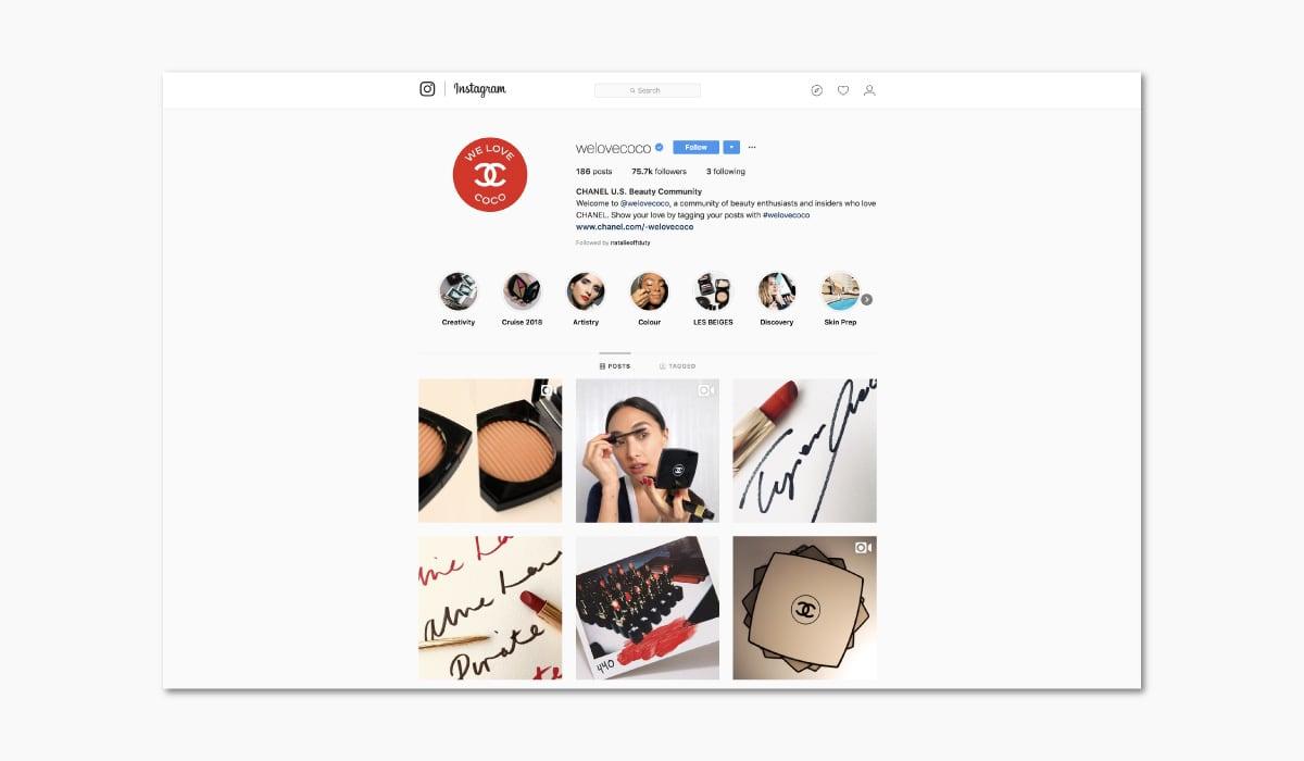 Luxe Digital online storytelling luxury brands chanel coco instagram