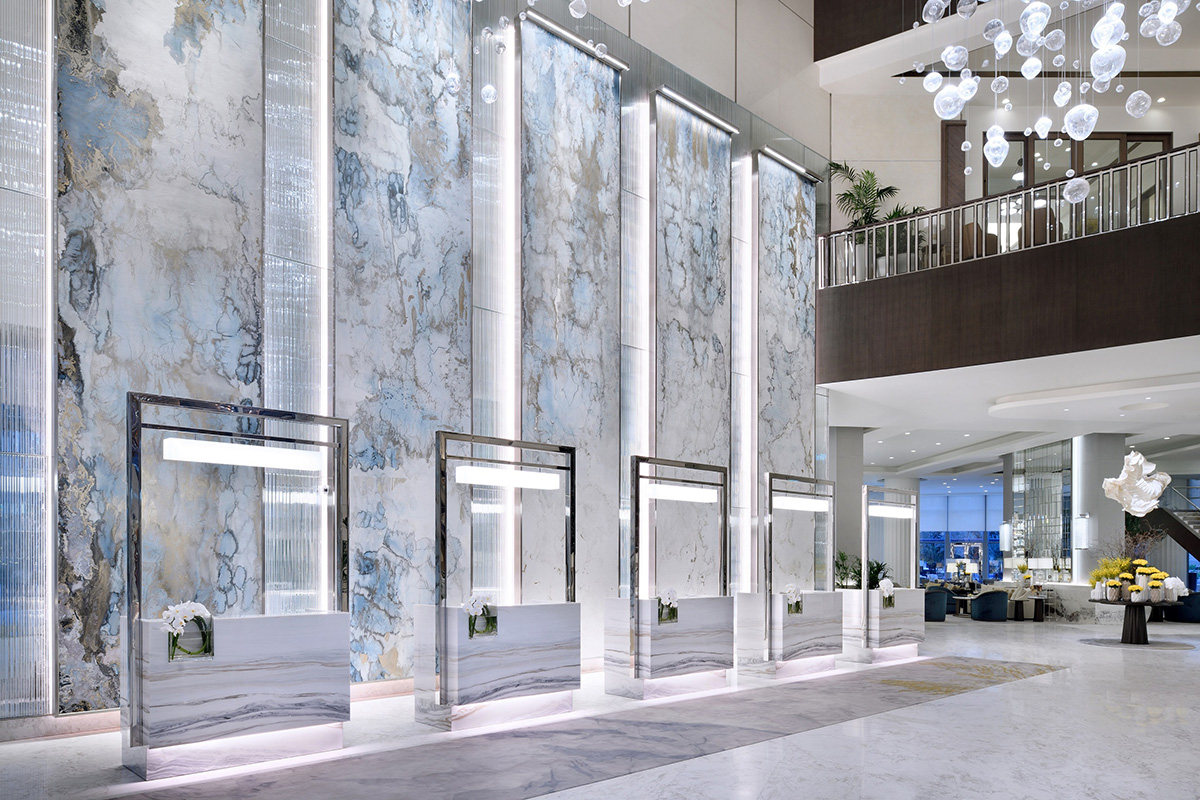 Luxe Digital luxury hotel Dubai Address Downtown lobby