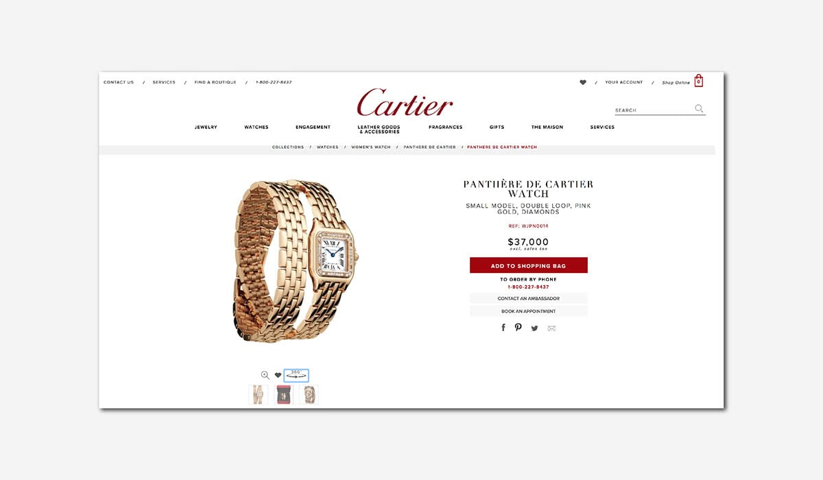2b0154fff0 Best Luxury Brands Online Cartier Product Page Website Luxe Digital