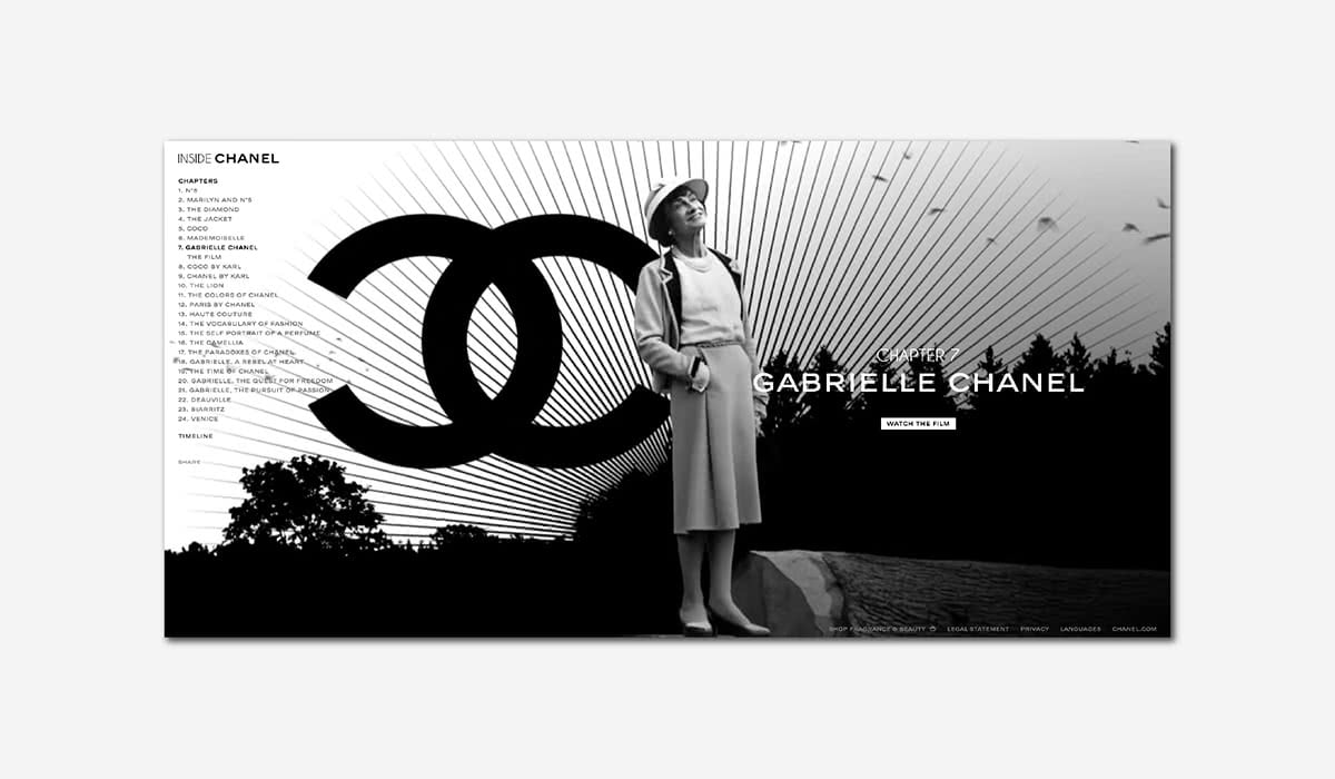 Best Luxury Brands Online Chanel Storytelling Luxe Digital