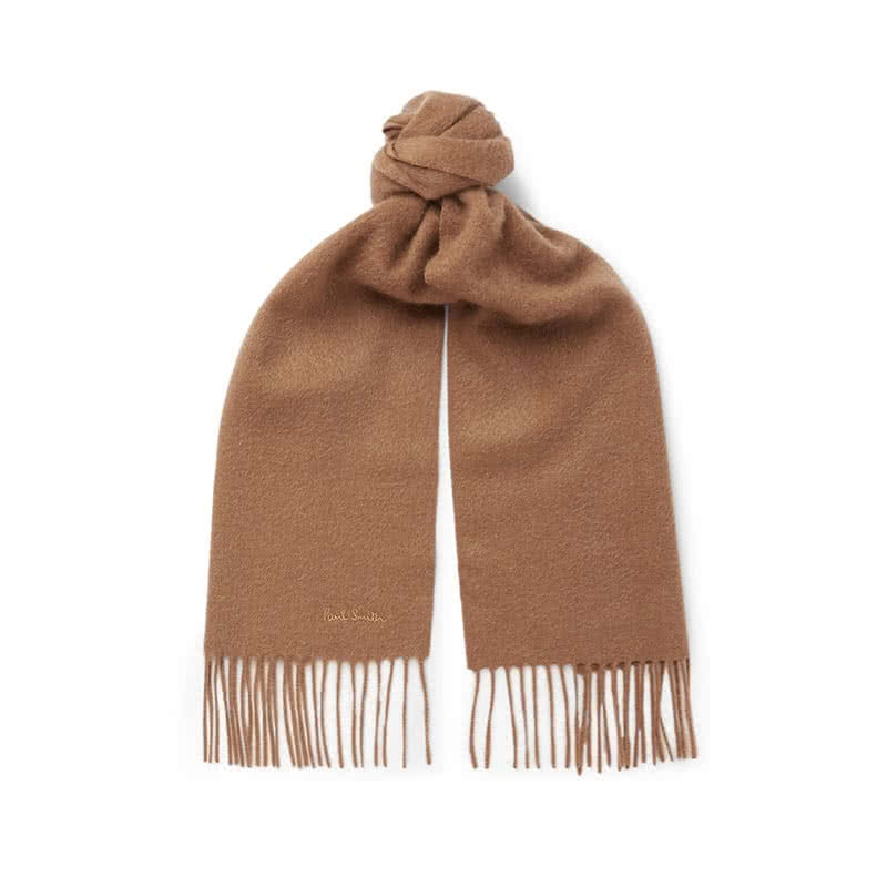 best Valentine's Day gifts for him paul smith fringed cashmere scarf luxe digital